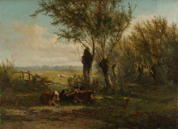 Weiland bij Oosterbeek, Gerard Bilders, 1860