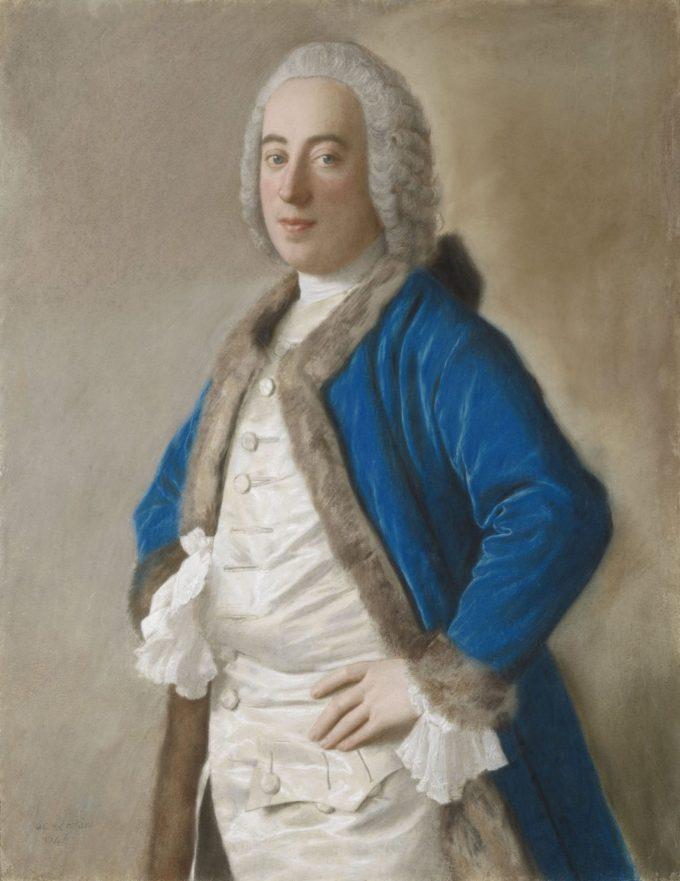 Portret van Joseph Bouër, Jean-Etienne Liotard, 1746