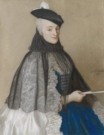 Portret van Catherine Bégon, Jean-Etienne Liotard, 1746
