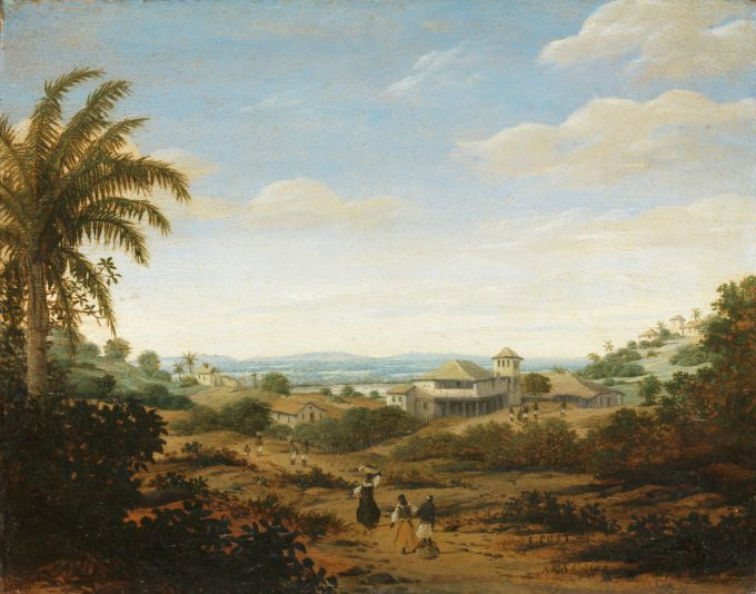 Landschap bij de rivier Senhor de Engenho, Brazilië, Frans Jansz. Post, 1670 - 1680