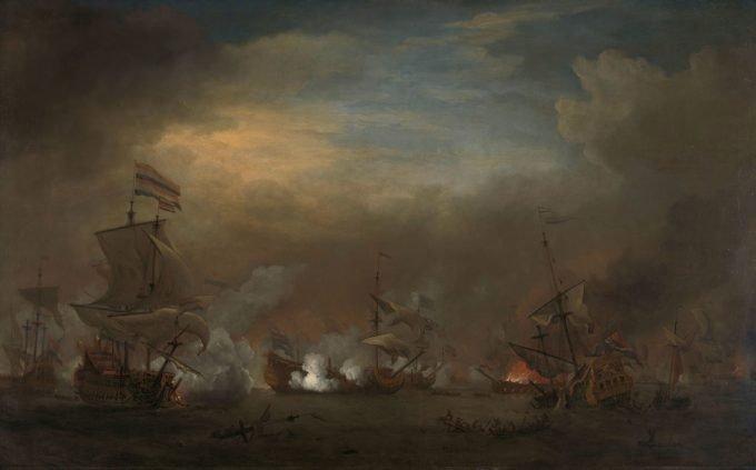 Veroverde Engelse schepen na de Vierdaagse Zeeslag, Willem van de Velde (II), Replica