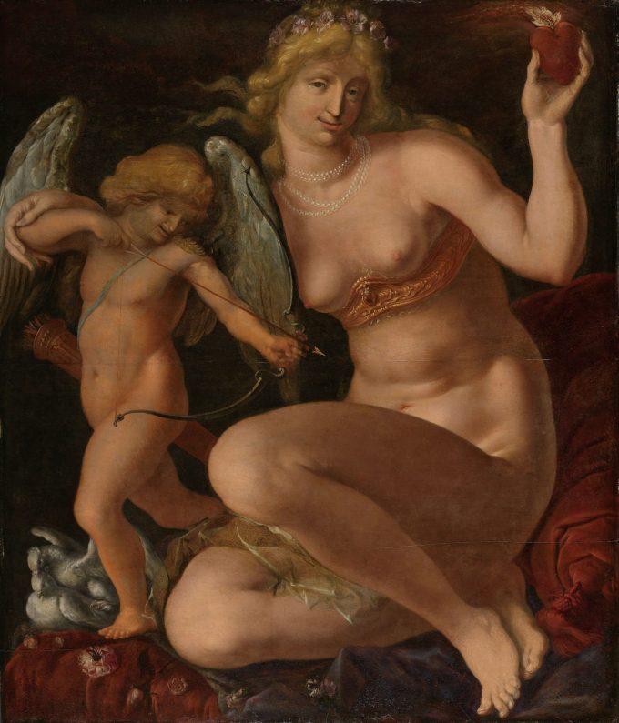 Venus en Amor, Jacob de Gheyn (II), 1605 - 1610
