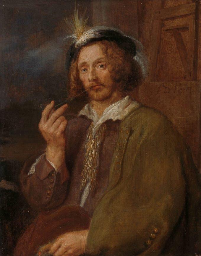 Zelfportret, Adriaen Brouwer (omgeving van), Jan Davidsz. de Heem (verworpen toeschrijving), 1630 - 1650