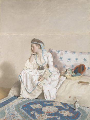 Marie Fargues, echtgenote van de kunstenaar, Jean-Etienne Liotard, 1756 – 1758