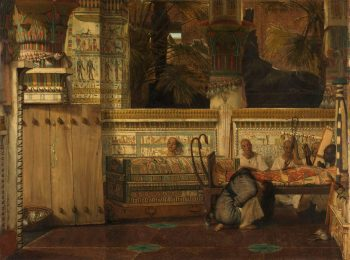 De Egyptische weduwe, Lourens Alma Tadema, 1872