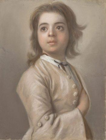Jean-Etienne Liotard, Studie van een jongen ten halven lijve, 1736 – 1738