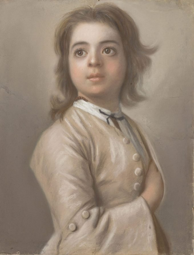 Jean-Etienne Liotard, Studie van een jongen ten halven lijve, 1736 - 1738