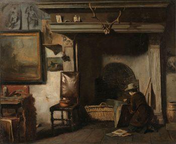 Het atelier van de Haarlemse schilder Pieter Frederik van Os, Anton Mauve, ca. 1856 – ca. 1857