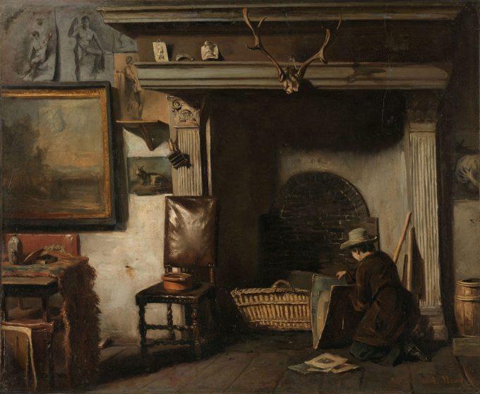 Het atelier van de Haarlemse schilder Pieter Frederik van Os, Anton Mauve, ca. 1856 - ca. 1857
