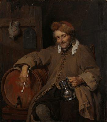 De oude drinker, Gabriël Metsu, ca. 1661 – ca. 1663