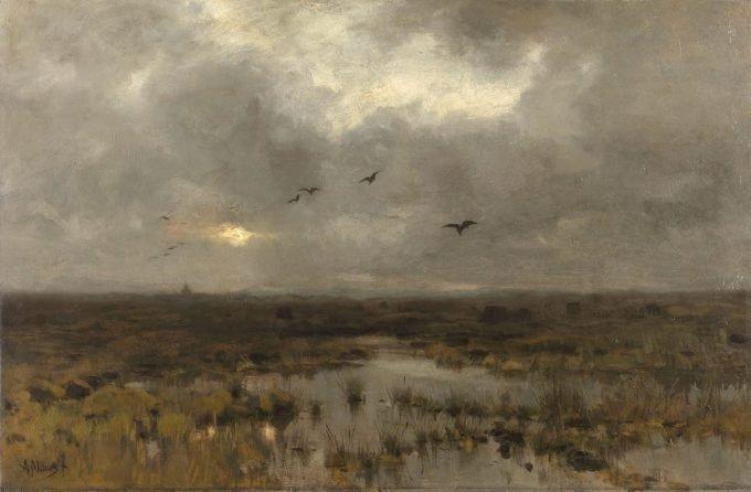 Het moeras, Anton Mauve, ca. 1885 - ca. 1888