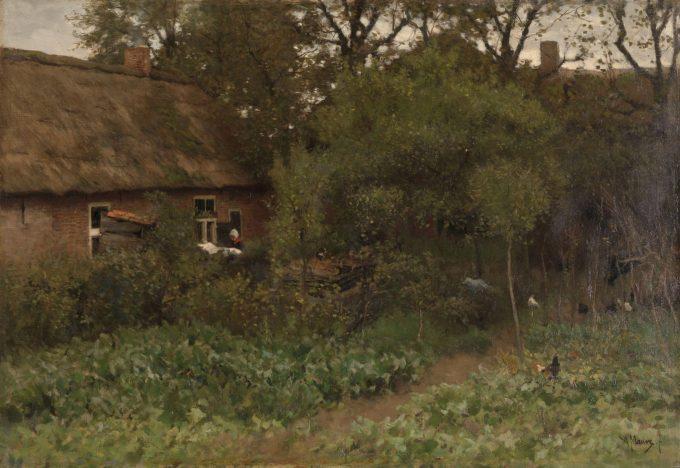 De moestuin, Anton Mauve, ca. 1885 - ca. 1888