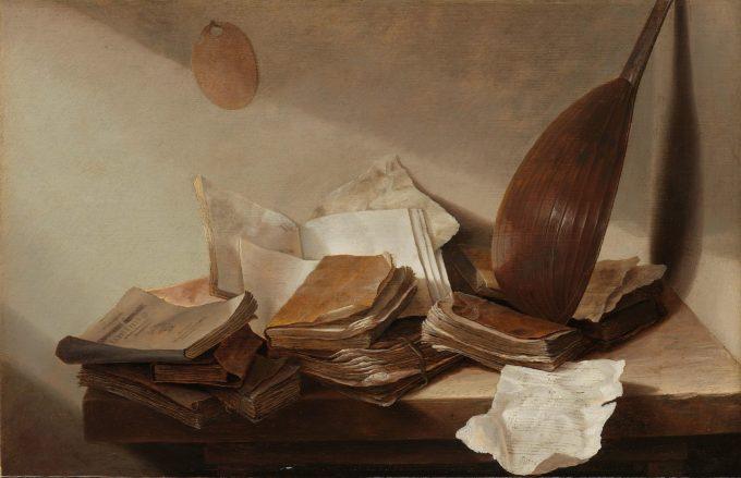 Stilleven met boeken, Jan Davidsz. de Heem, 1625 - 1630