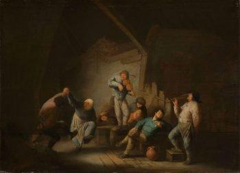 Het dansende paar, Adriaen van Ostade, 1625 – 1640