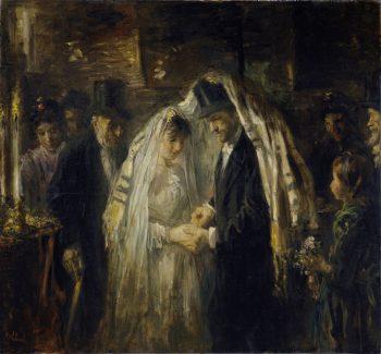 Joodse bruiloft, Jozef Israëls, 1903