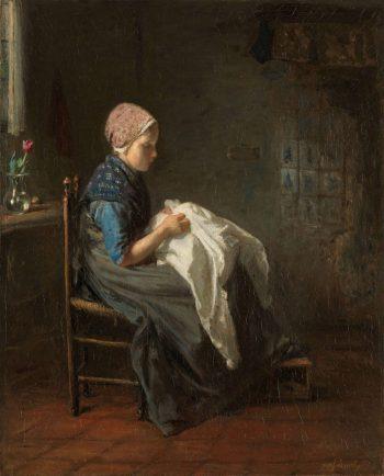 'Het naaistertje', Jozef Israëls, 1850 – 1888