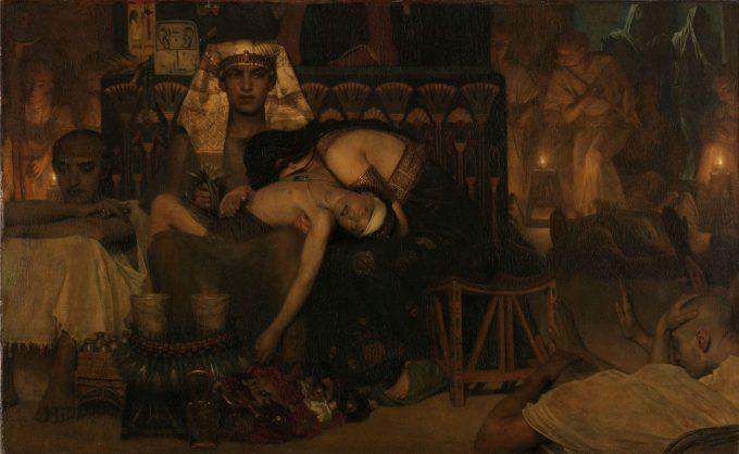 De dood van de eerstgeborene van de farao, Lourens Alma Tadema, 1872