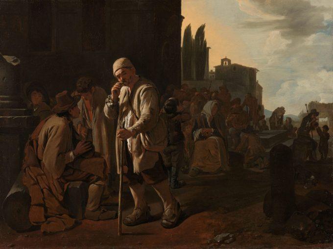 De hongerigen spijzen, Michael Sweerts, 1646 - 1649