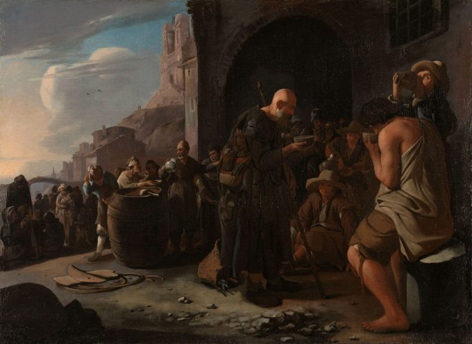 De dorstigen laven, Michael Sweerts, ca. 1646 - ca. 1649
