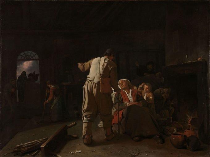 De zieken bezoeken, Michael Sweerts, ca. 1646 - ca. 1649