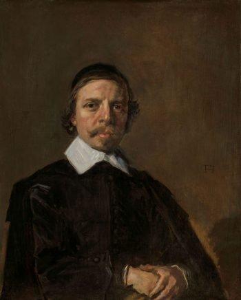 Portret van een man, mogelijk een geestelijke, Frans Hals, ca. 1657 – ca. 1660