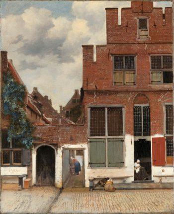 Gezicht op huizen in Delft, bekend als 'Het straatje', Johannes Vermeer, ca. 1658