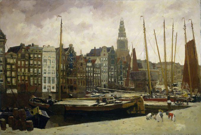 Het Damrak in Amsterdam, George Hendrik Breitner, 1903