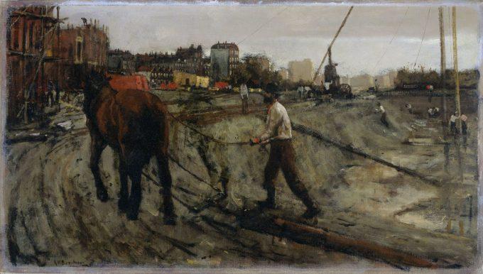 Bouwterrein, George Hendrik Breitner, ca. 1900