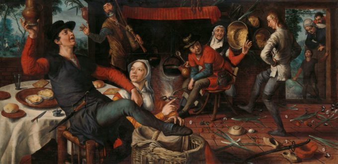 De eierdans, Pieter Aertsen, 1552