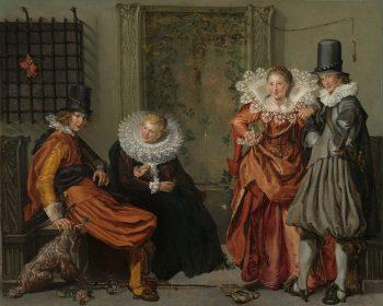 Voorname vrijage, Willem Pietersz. Buytewech, ca. 1616 – ca. 1620