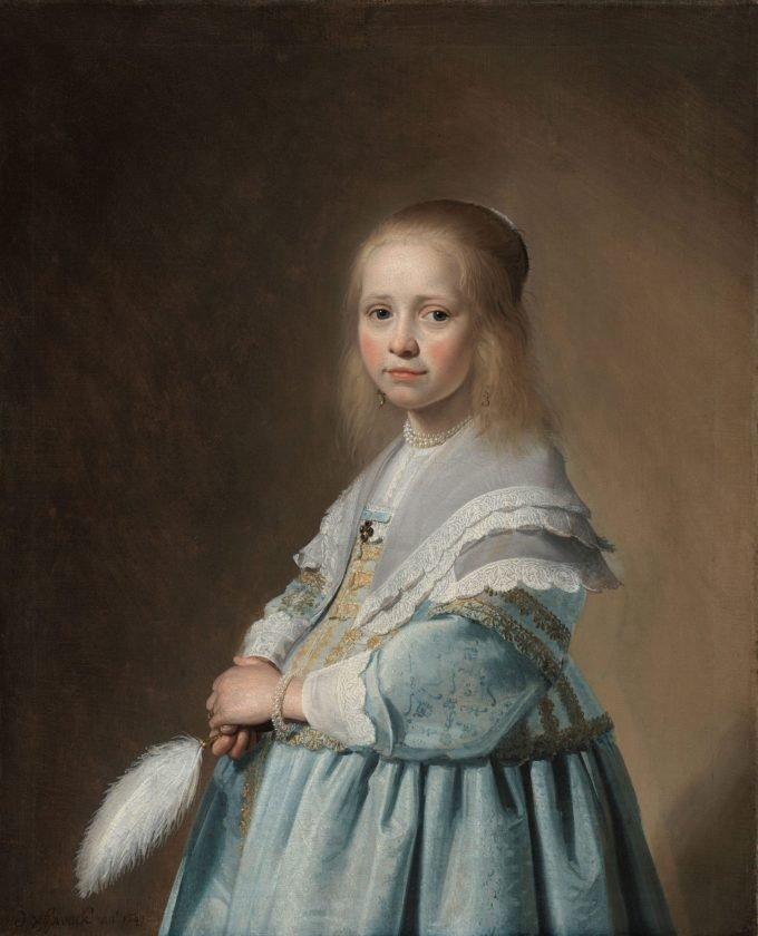 Portret van een meisje in het blauw, Johannes Cornelisz. Verspronck, 1641