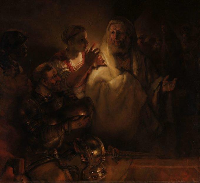 De verloochening van Petrus, Rembrandt van Rijn, 1660