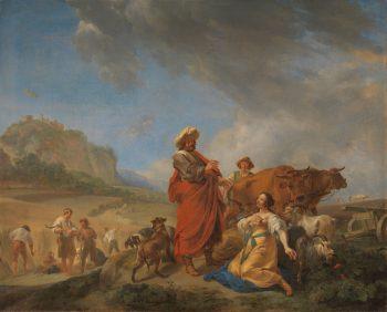 Ruth en Boas, Nicolaes Pietersz. Berchem, 1640 – 1650
