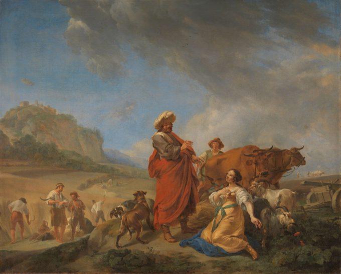 Ruth en Boas, Nicolaes Pietersz. Berchem, 1640 - 1650