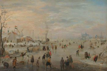 IJsvermaak, Hendrick Avercamp, ca. 1615 – ca. 1620