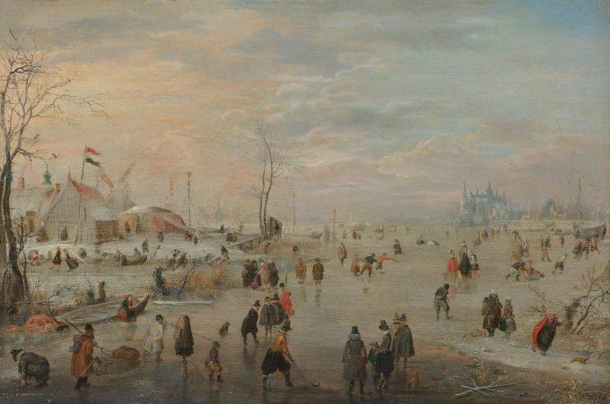 IJsvermaak, Hendrick Avercamp, ca. 1615 - ca. 1620