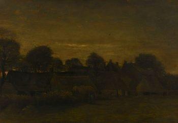 Boerendorp in de avond, Vincent van Gogh, 1884