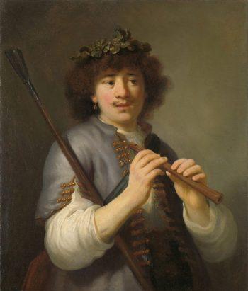 Rembrandt als herder met staf en fluit, Govert Flinck, 1636