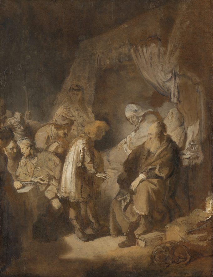 Jozef zijn dromen vertellend, Rembrandt van Rijn, 1633