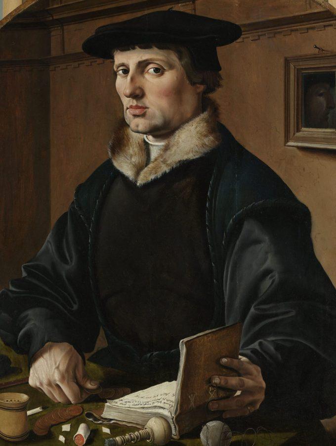 Portretten van een echtpaar, mogelijk Pieter Gerritsz Bicker en Anna Codde, Maarten van Heemskerck, 1529