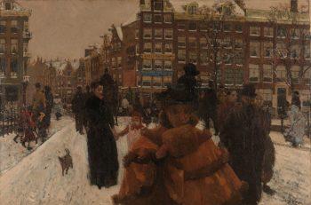 De Singelbrug bij de Paleisstraat in Amsterdam, George Hendrik Breitner, 1898