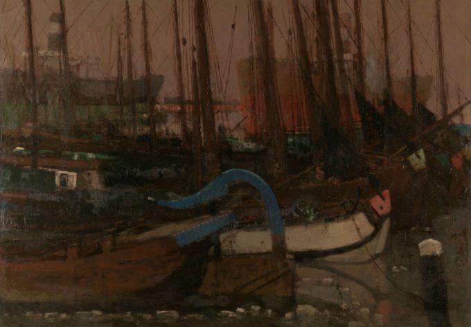 Schepen in het ijs, George Hendrik Breitner, 1901