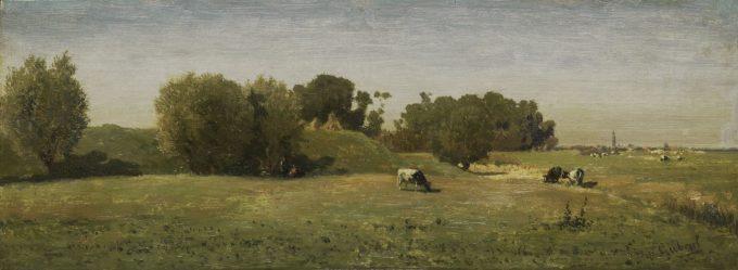 Landschap bij Abcoude, Paul Joseph Constantin Gabriël, 1860 - 1870