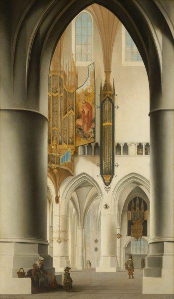 Interieur van de Sint-Bavokerk in Haarlem, Pieter Jansz. Saenredam, 1636