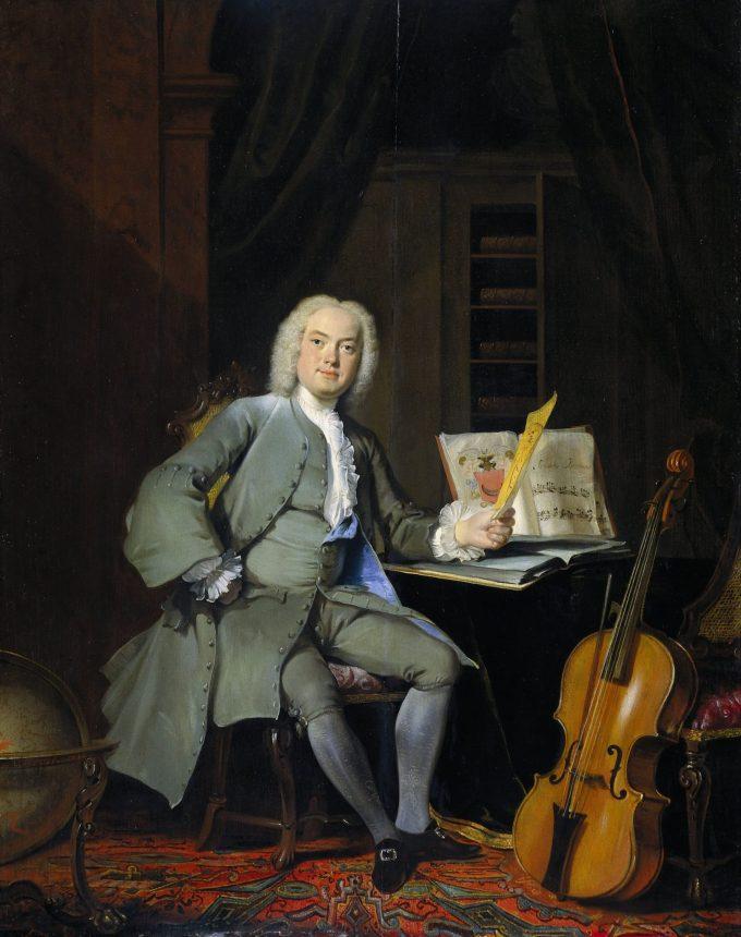 Portret van een lid van de familie Van der Mersch, Cornelis Troost, 1736