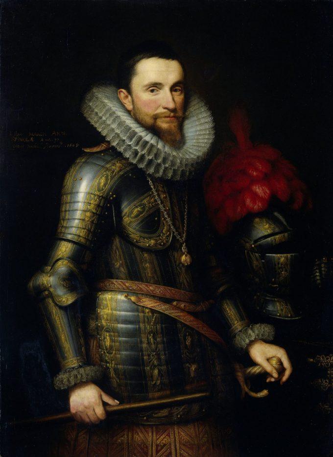 Portret van Ambrogio Spinola, Michiel Jansz. van Mierevelt, 1609