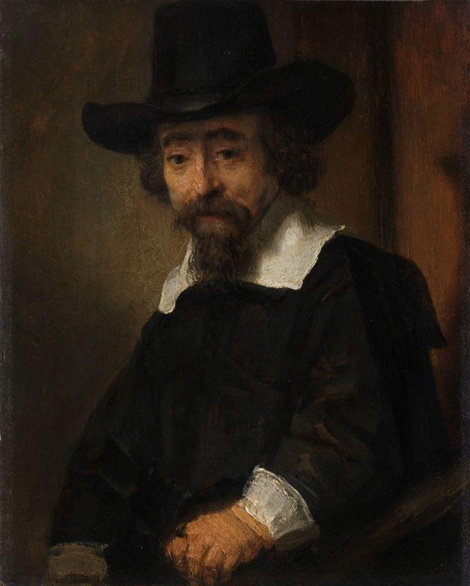 Portret van Dr. Ephraïm Bueno, Rembrandt van Rijn, 1645 - 1647