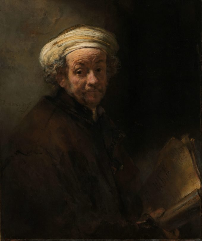 Zelfportret als de apostel Paulus, Rembrandt van Rijn, 1661