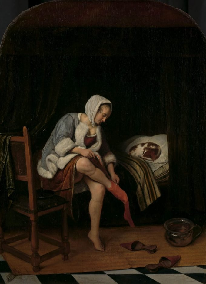 Het toilet, Jan Havicksz. Steen, 1655 - 1660