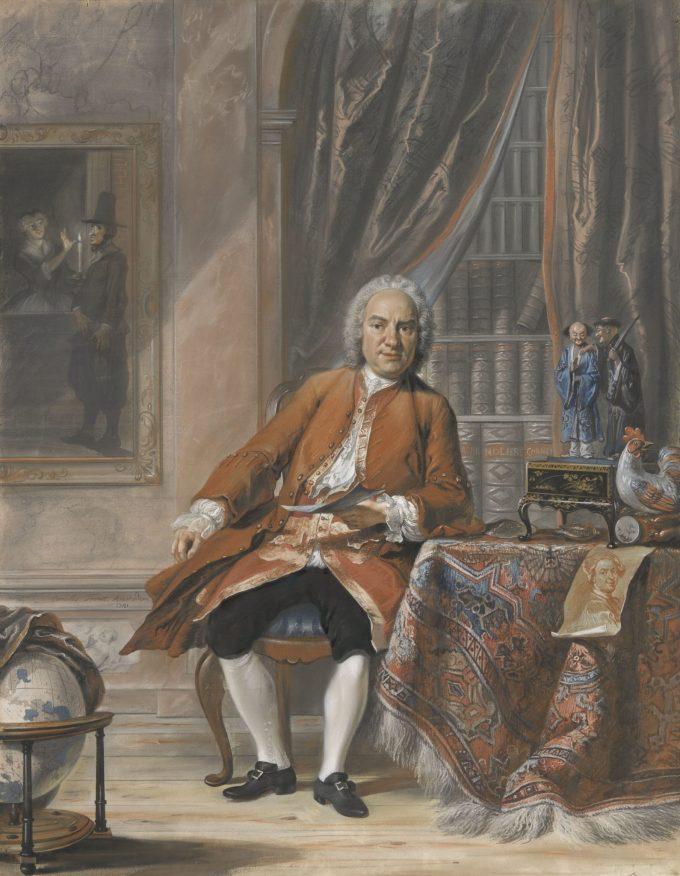 Portret van Joan Jacob Mauricius, gouverneur-generaal van Suriname, Cornelis Troost, 1741